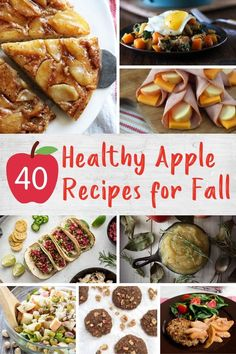 Stock up on apples during peak season for these healthy and tasty apple recipes including breakfasts, snacks, desserts and more! Easy Delicious Recipes, Super Healthy Recipes, Healthy Meals For Kids, Healthy Breakfast Recipes, Kids Meals, Tasty, Apple Recipes, Fall Recipes, Christmas Recipes