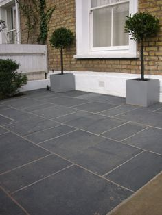 Patio slab designs garden paving slabs ideas patio slab ideas pleasing black grey slate paving garden . Garden Slabs, Garden Tiles, Patio Slabs, Patio Tiles, Garden Floor, Garden Paving, Cement Patio, Concrete, Front Yard Garden Design