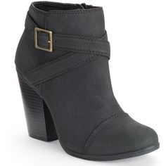 LC Lauren Conrad Ankle Boots ($63) ❤ liked on Polyvore