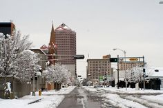 Our streets this winter in our downtown location!