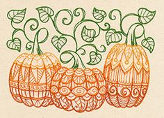 Patterned Pumpkins | Urban Threads: Unique and Awesome Embroidery Designs Urban Threads