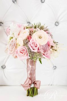 Luxurious Pink Wedding Shoot by Rachel Clingen | Calligraphy by Jennifer