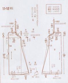 [공유] 끈으로 묶는 원피스 : 네이버 블로그 Coat Patterns, Clothing Patterns, Dress Patterns, Sewing Patterns, Hai Day, Pattern Drafting Tutorials, Pinafore Pattern, Simple Dress Pattern, Jolie Lingerie