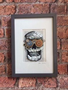 Steampunk Skull with Blue-Eye by Sea On Glass