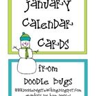 January / Winter Calendar Cards by Doodle Bugs Teaching Calendar Numbers, Calendar Board, Calendar Time, January Calendar, Classroom Labels, Classroom Design, Classroom Decor, Preschool Calendar, Preschool Themes