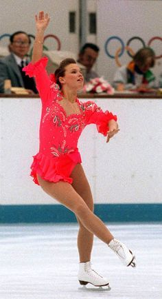 Canada's Josée Chouinard competing in the figure skating event at the 1992 Albertville Olympic winter Games. Canadian Girls, Winter Games, Summer Winter, Winter Olympics, Olympians, Figure Skating, Skate, Ladies Figure, Ballet Skirt