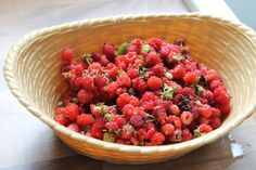 Wild raspberry picking jam