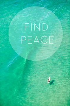 Find peace within yourself before you ever try to find someone else's peace.