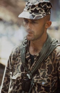 US Army Special Forces soldier, photographed by Larry Burrows, 1964. ~ Vietnam War
