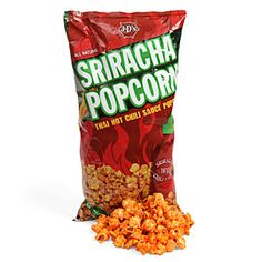Everyone loves the burning joy that is Sriracha. Everyone loves popcorn, too. So, cram them together and what do you get? No, not the power of time travel. You get Sriracha Popcorn. Silly. babe