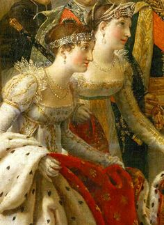 Detail of 'The Coronation of Napoleon', 1807, by Jacques-Louis David #art #painting