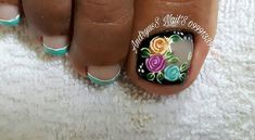 Love Nails, Pretty Nails, Fun Nails, Mani Pedi, Manicure, Toenail Art Designs, Almond Nails Designs, Toe Nail Art, Feet Care