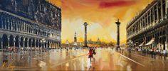 """Venetian Sunset 30""""x70"""" (75cm x 175cm)"""