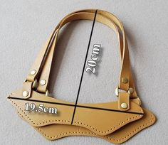 A pair of cow leather strap for bag and purse handle--Yellow