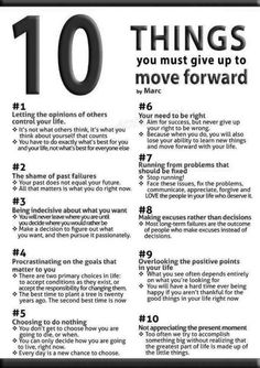 10 things you must give up.