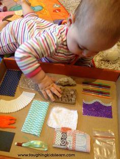 Sensory board for babies DIY