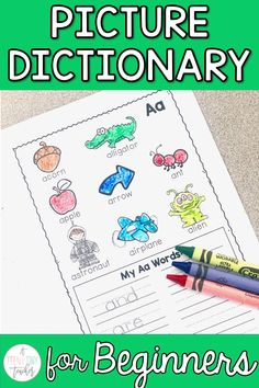 This picture dictionary resource is the perfect writing activity for prek, kindergarten, 1st, & 2nd graders. This comes in black & white and color and works great for writing centers, extensions, or challenge work.