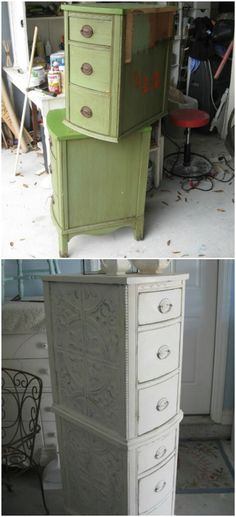 Decorate the sides with ceiling tins.