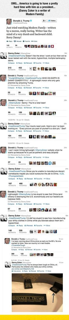 Donald Trump Vs. Modern Family Writer