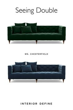 Customize your Ms. Chesterfield sofa with your favorite of our 34 legs and 70+ fabrics.