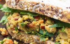 Give your lunch a delicious makeover with this tasty curried chickpea sandwich packed with proteins and flavors. Chickpeas are mashed to a chunky paste and mixed with a fragrant spice blend.