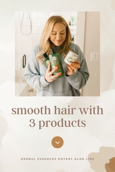 Easy routine for a Mom on the go to keep your hair looking and feeling fresh, smooth and shiny using Herbal Essences Hemp + Potent Aloe Collection and Argan Oil + Aloe Hair Mask.