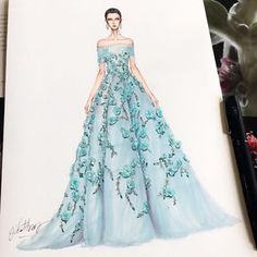 ideas drawing fashion sketches gowns for 2019 Dress Design Drawing, Dress Design Sketches, Fashion Design Sketchbook, Dress Drawing, Fashion Design Drawings, Fashion Sketches, Fashion Drawing Dresses, Fashion Illustration Dresses, Fashion Dresses