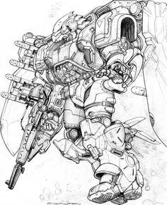 RIFTS BLUE HAWK POWER ARMOR by ChuckWalton on DeviantArt