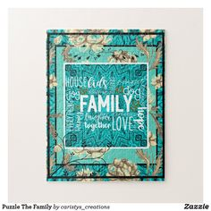 Shop Puzzle The Family created by caristys_creations. Challenging Puzzles, Organizing Your Home, Jigsaw Puzzles, Christmas Gifts, Floral, Paper Products, Fun, Cards, Stationary