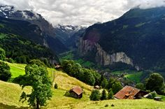 Lauterbrunnen Valley, Switzerland.  Would love to hike here!