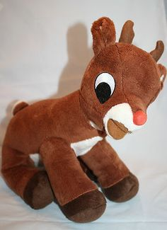 """12"""" Commonwealth 2008 Rudolph The Red Nosed Reindeer Plush Stuffed Musical Toy"""