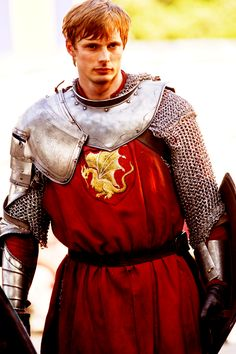 Prince Arthur (I swoon)...for costume reference.  hooded chainmail, tunic, one-shouldered armor, forearms, shield, belt.  Guess it's ok that Moose's hair is getting a little long....