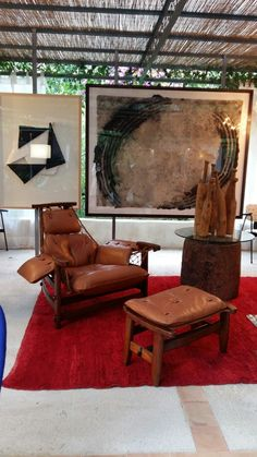 Jean Gillon armchair Guillem Nadal Big painting Manolo Ballesteros painting