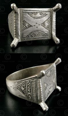 Africa | Ring; sterling silver | ca. mid 1900s | 68$