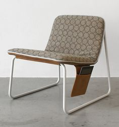 """Industrial designer Robert Bronwasser heads the design studio Smool and he's created the Casual Chair as part of a line of what he calls """"Fashion Furniture."""" The comfortable designs are minimal but much like the fashion world, there are unlimited options – like zippers, pockets, leather accessories."""