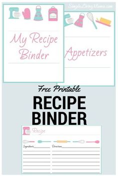 Recipe binder kit diy printable project by project goble how to create a family recipe book passing down traditions solutioingenieria Choice Image