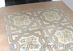 Venetian Taupe cement tile hall walkwaywww.villalagoontile.com/venetian-taupe-tile.html