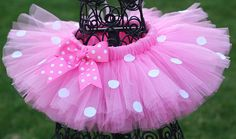 Pink Polka Dot Minnie Tutu Minnie Mouse by TwistinTwirlinTutus Mickey Mouse Clubhouse Birthday, Minnie Birthday, Mickey Minnie Mouse, Baby Birthday, Birthday Parties, Disney Dress Up, Halloween Disfraces, Mouse Parties, Pink Polka Dots