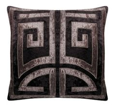 The HOLLYWOOD large square cushion cover in crushed velvet, by Sue Wong for EnglishHome.com.