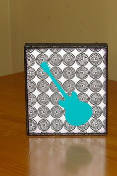 modern guitar wall art... easy to make in any color scheme or theme