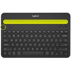 The Bluetooth Multi-Device Keyboard is a unique keyboard for your computer. That also works with your tablet and smartphone. Multi-device Keyboard: Unique computer keyboard that also works with your Bluetooth tablet and smartphone. Logitech, Mac Os, Bluetooth Keyboard, Computer Keyboard, Smartphone, Iphone, Usb, Hard Disk Drive, Computer Accessories