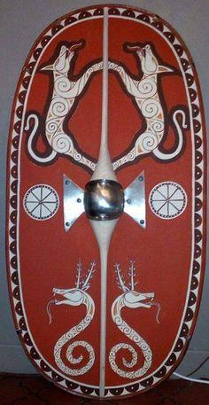 Shield War Shield, 120 cm / 60 cm, wood of ash and oak.
