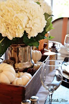 Tidbits & Twine: How to style a table for fall Thanksgiving
