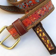 Unisex Vegan Belt With Brass Buckle by Penny Sparkle Designs on Opensky