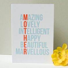 Cute Mothers Day Card  Pinned by: http://farmhousesister.blogspot.com/