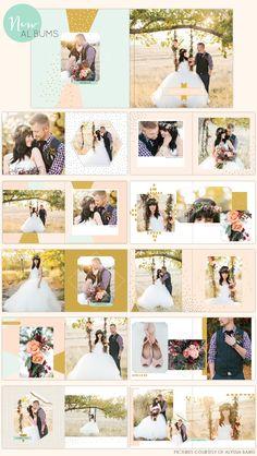 Photoshop album designs - Birdesign photo album - wedding album