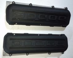 NEW 1 PAIR NASCAR DODGE R6/P8 HEADS ALUMINUM VALVE COVERS & SPACER WATER RAILS #DODGERACING