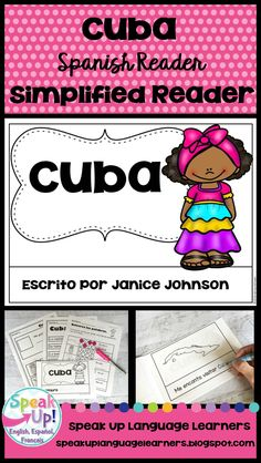 Cuba Reader {en español} & Vocab pages ~ Simplified for Language Learners Cuban Culture, Spanish Culture, Hispanic Culture, Spanish Lessons For Kids, Cultural Crafts, Spanish Speaking Countries, Emergent Readers, Dual Language, Spanish Classroom