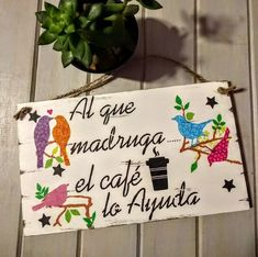 Cuadros Carteles Diseño Vintage Modernos Frases Cocina - $ 390,00 en Mercado Libre Posters Vintage, Kitchen Paint, Diy Room Decor, Home Decor, Woodworking Crafts, Chalk Paint, Vintage Designs, Decoupage, Wood Signs