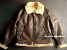 Vintage B3 Bomber Jacket Leather Shearling by Aitoz Corp Tokyo USAF WW2 style A2 G1 B6 Large via Etsy